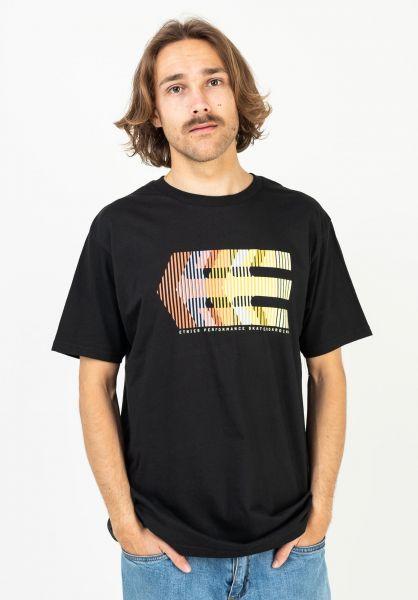 etnies T-Shirts Afterburn black-orange vorderansicht 0323540