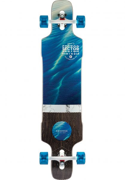 Sector-9 Longboards komplett Shallows Dropper multicolored vorderansicht 0194285