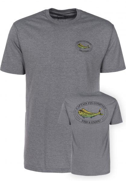Captain Fin T-Shirts Mahi Mahi heathergrey Vorderansicht