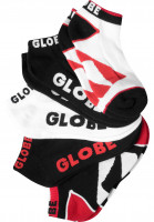 Globe Socken Destroyer Ankle 5 Pack red Vorderansicht