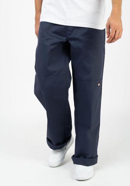 Dickies Chinos und Stoffhosen Double Knee Work Pant navy-blue vorderansicht 0204120