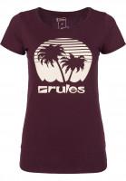 Rules T-Shirts Palm Girls darkburgundy Vorderansicht