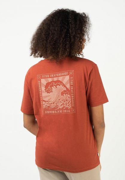 TITUS T-Shirts Forecast burnt-ochre vorderansicht 0321943
