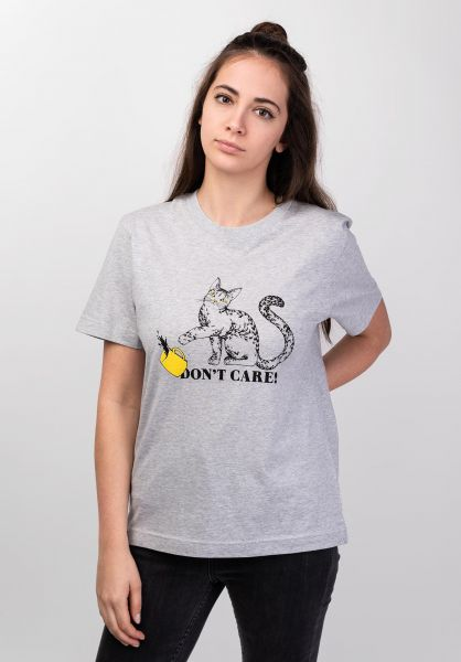 Dedicated T-Shirts Mysen Do Not Care greymelange vorderansicht 0399203