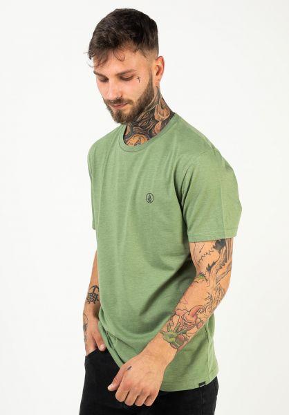 Volcom T-Shirts Circle Blanks HTH cactusgreen vorderansicht 0322535