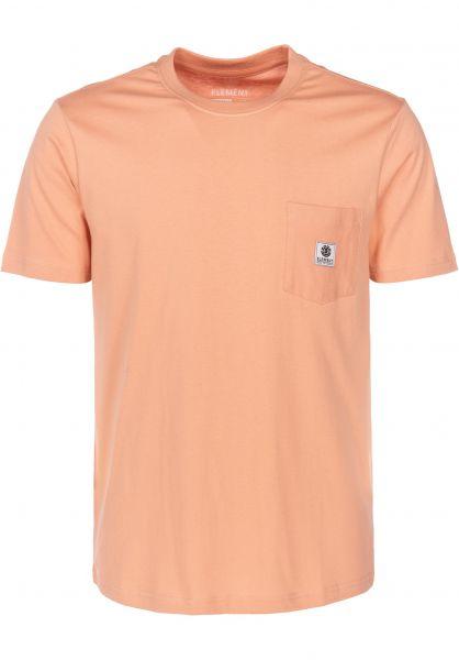 Element T-Shirts Basic Pocket Label dustypeach vorderansicht 0398847