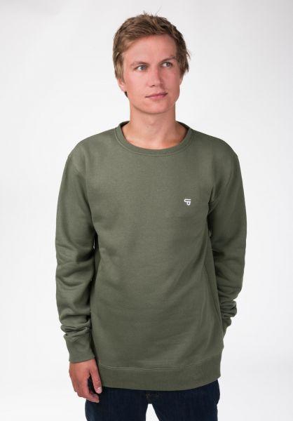 TITUS Sweatshirts und Pullover Uni olive Closeup1