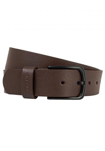 Reell Gürtel All Black Buckle Belt brown vorderansicht 0771534