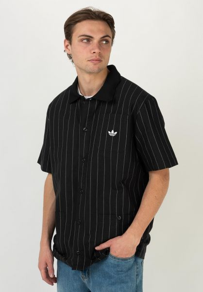 adidas-skateboarding Polo-Shirts Shooting black-offwhite vorderansicht 0138436