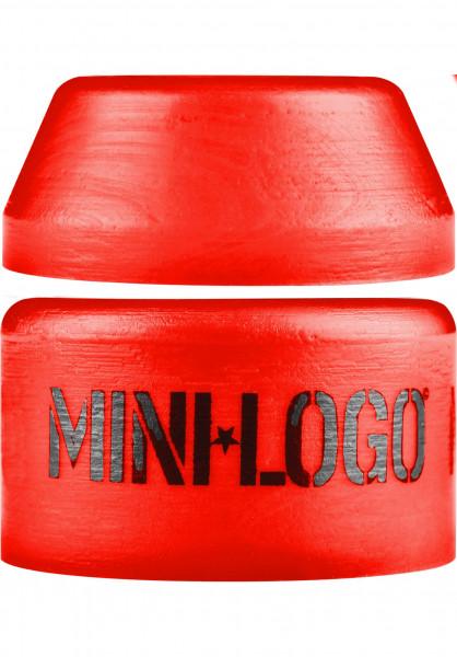 Mini-Logo Lenkgummis 100A Red Hard Pack red Vorderansicht