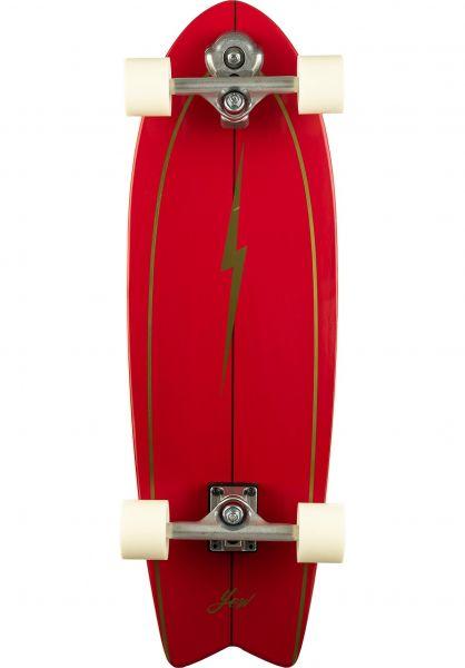 """YOW Cruiser komplett Pipe 32"""" Surfskate red vorderansicht 0252518"""