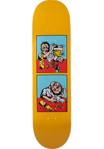 Passport Skateboards Skateboard Decks Next Day Series Blender yellow vorderansicht 0261448