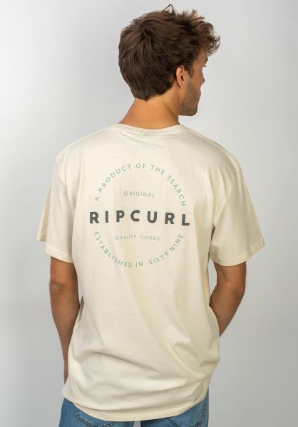 Rip Curl T-Shirts Authentic offwhite vorderansicht 0320631