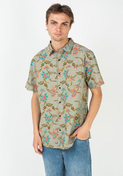 Roark Hemden kurzarm Batavia Batik Woven military vorderansicht 0400997