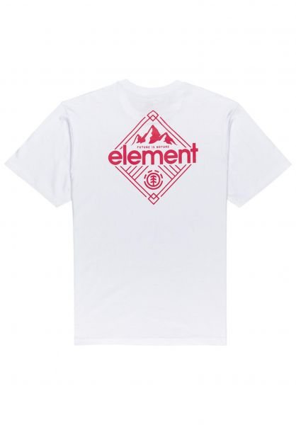 Element T-Shirts Duggar opticwhite vorderansicht 0323366