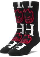 HUF Socken x Spitfire Bighead H Socks black Vorderansicht 0631592