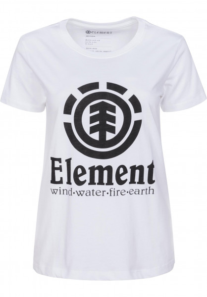 Element T-Shirts Element Vertical white Vorderansicht