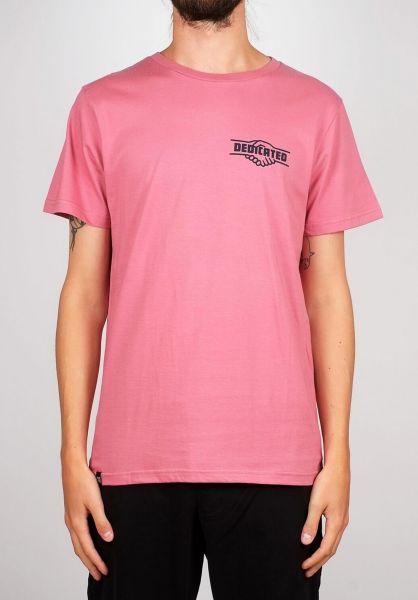 Dedicated T-Shirts Stockholm Good Hands heatherrose vorderansicht 0399383