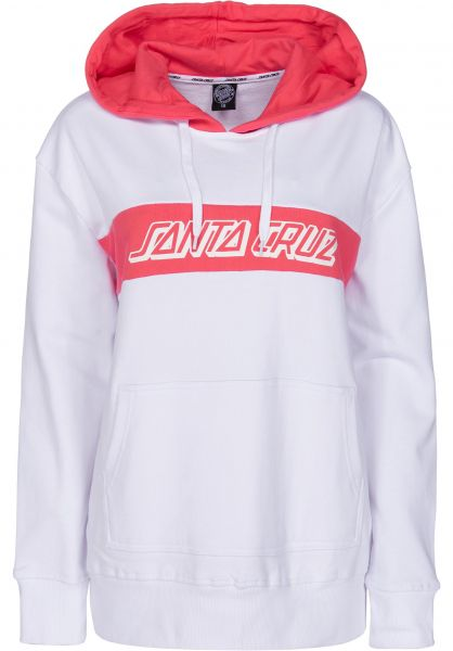 Santa-Cruz Hoodies Classic Strip white-rose Vorderansicht