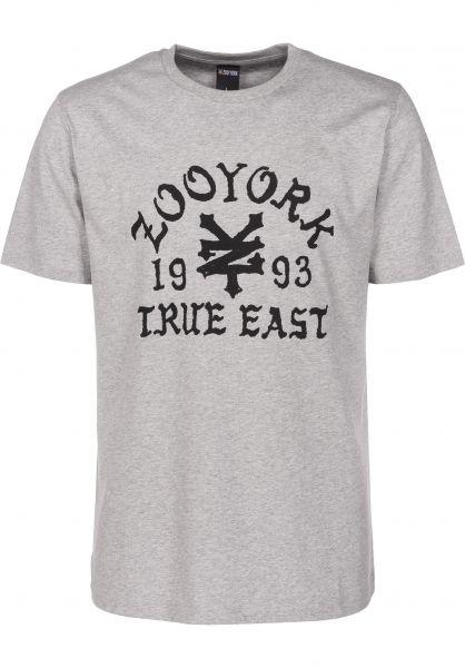 Zoo York T-Shirts Napkins heathergrey Vorderansicht