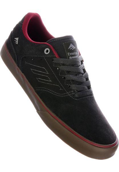 Emerica Alle Schuhe Reynolds Low Vulc darkgrey-grey-red vorderansicht 0603530