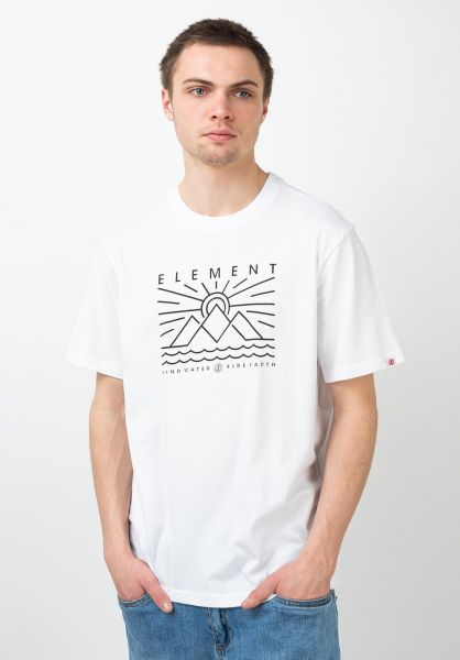 Element T-Shirts Oddie opticwhite vorderansicht 0321633