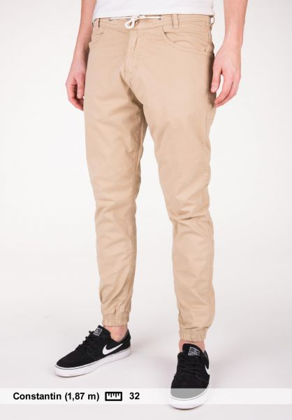 Makia Chinos und Stoffhosen Nautical Trousers khaki Vorderansicht 0204061