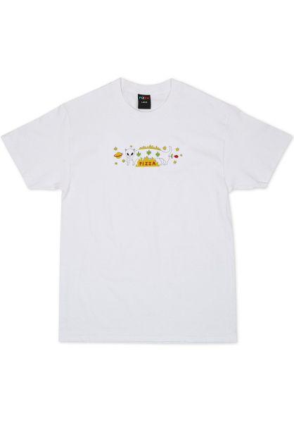 Pizza Skateboards T-Shirts Influencer white vorderansicht 0399757