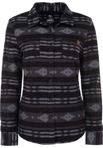 TITUS Hemden langarm Felipe black-grey Vorderansicht