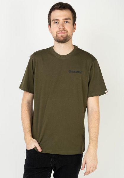 Element T-Shirts Blazin Chest army vorderansicht 0320483