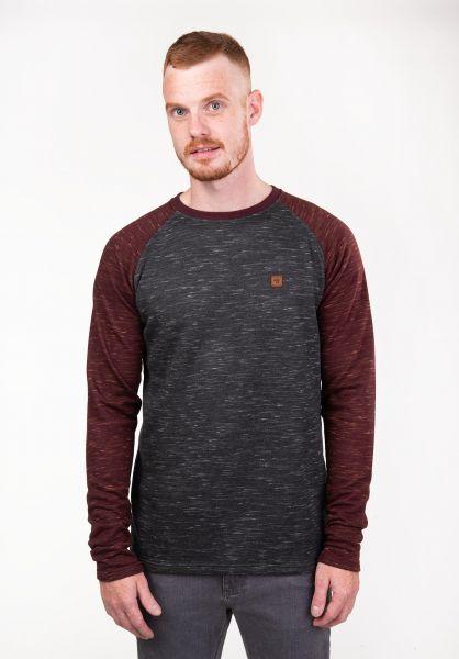 TITUS Sweatshirts und Pullover Thorben greymottled-darkredmottled vorderansicht 0382373