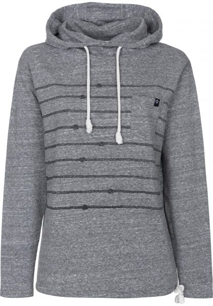 Nikita Hoodies Channel jet-black Vorderansicht