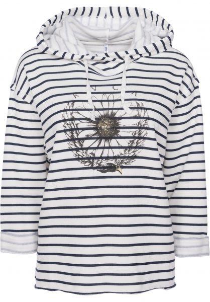 RVCA Hoodies Daisy Eagle Cross navy-stripe Vorderansicht