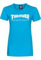 Thrasher-T-Shirts-Skate-Mag-Girls-teal-Vorderansicht