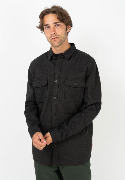 Globe Hemden langarm Clifton Solid fieldgreen vorderansicht 0412068