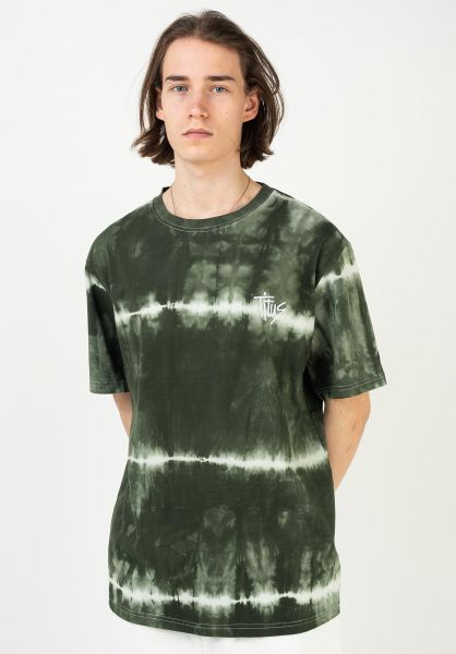 TITUS T-Shirts Aitor green-batik vorderansicht 0321928