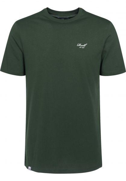 Reell T-Shirts Small Script deepgreen vorderansicht 0394536