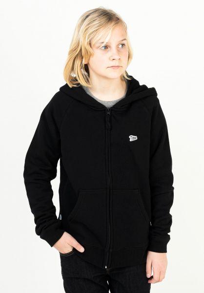 TITUS Hoodies Script Zipper Kids black vorderansicht 0445898