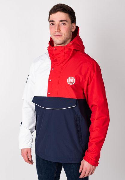 DC Shoes Übergangsjacken Conbren navy-red-white vorderansicht 0504384