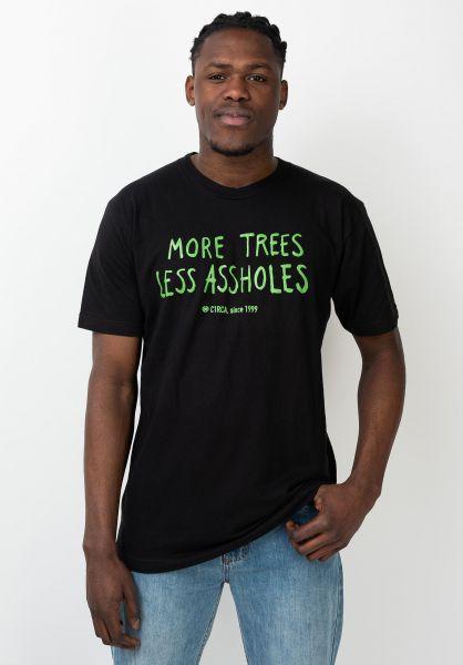 C1RCA T-Shirts Trees black vorderansicht 0321656