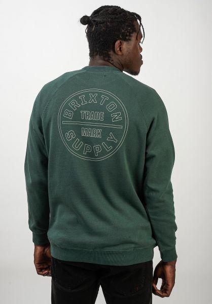 Brixton Sweatshirts und Pullover Oath Crew emerald vorderansicht 0422765