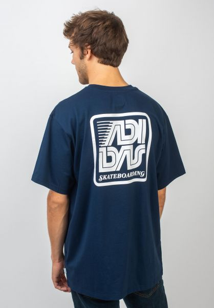 adidas-skateboarding T-Shirts Toolkit 1 collegiatenavy-white vorderansicht 0320657