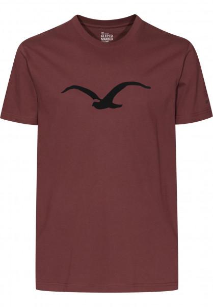 Cleptomanicx T-Shirts Möwe dustyred Vorderansicht