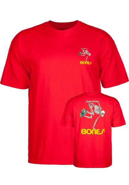 Powell-Peralta T-Shirts Skateboard Skeleton Kids red vorderansicht 0396442