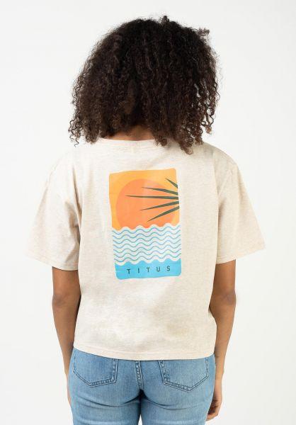 TITUS T-Shirts Sundowner crememottled vorderansicht 0321955