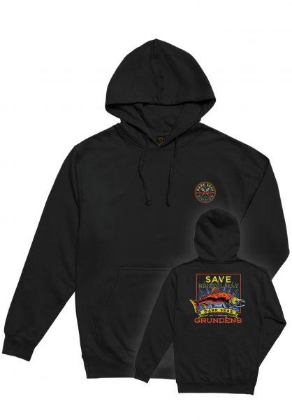 Dark Seas Hoodies x Grundens Save Bristol Bay black vorderansicht 0445077
