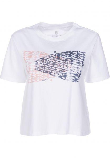 Element T-Shirts Net Crop white vorderansicht 0399077