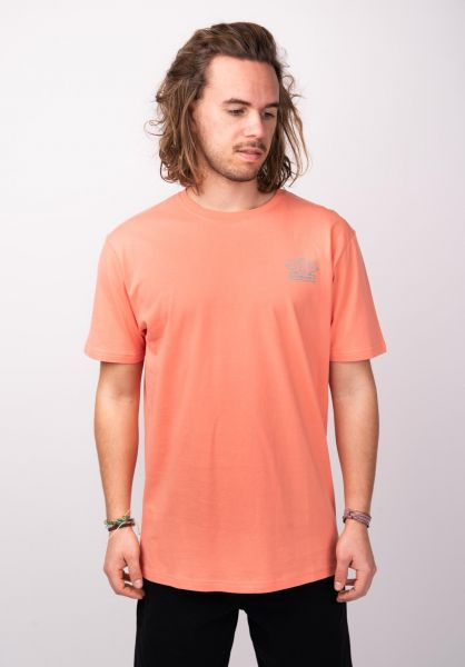 TITUS T-Shirts Trademark-Backprint peach vorderansicht 0398376