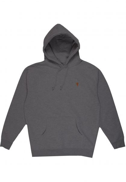 Pizza Skateboards Hoodies Emoji heathergrey vorderansicht 0446024