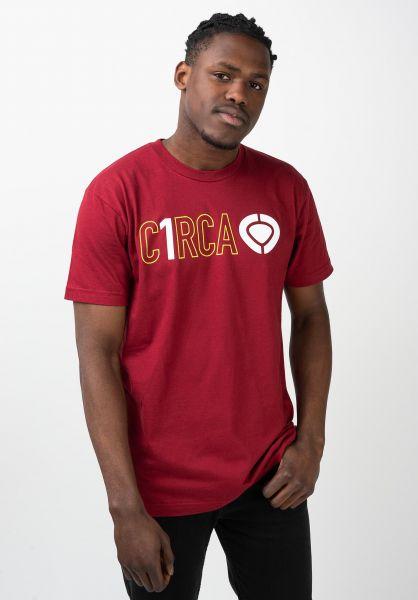 C1RCA T-Shirts Din Icon Track maroon vorderansicht 0321653